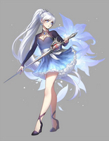 Weiss Schnee, from the animated series 'RWBY'.